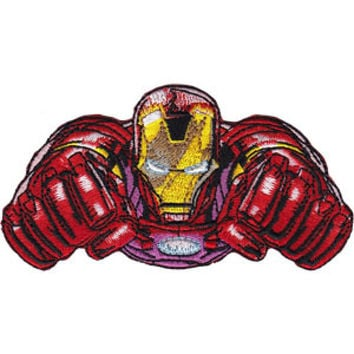 Iron Man Iron-On Patch Flying