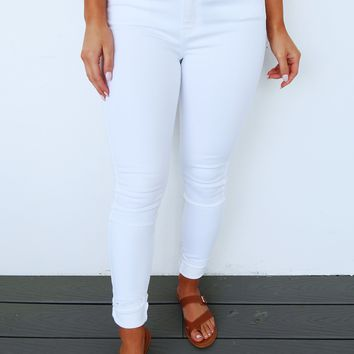 Dream With You Jeans: White