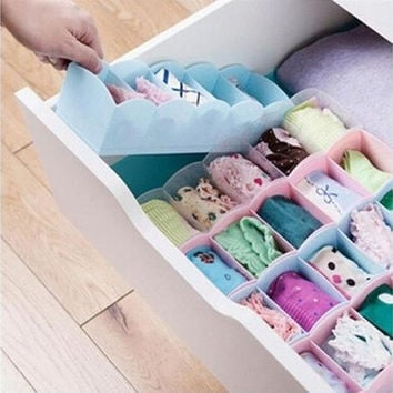 Multi-function Storage Box Clothing Organizer Underwear Socks Bra Ties  Desktop Drawer [8323045377]