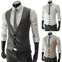 Slim Fit Men Designer Look Fashion Vest