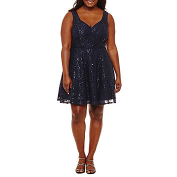 City Triangle Sleeveless Party Dress-Juniors Plus - JCPenney