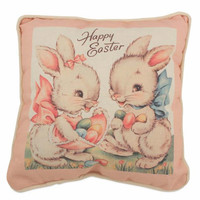 Sweet Easter Bunnies Throw Pillow