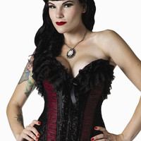 Living Dead Souls Satin Tulle Corset :: VampireFreaks Store :: Gothic Clothing, Cyber-goth, punk, metal, alternative, rave, freak fashions