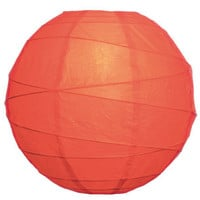 Tangerine Orange Paper Lantern -- 10 Inches