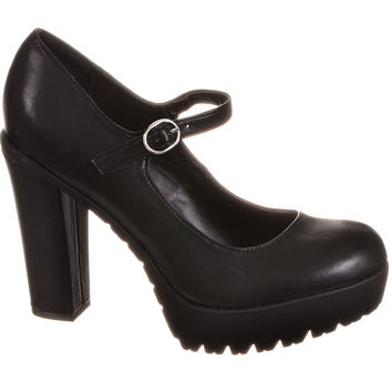 Riot Girl 90s Grunge Platform Mary Jane Shoes