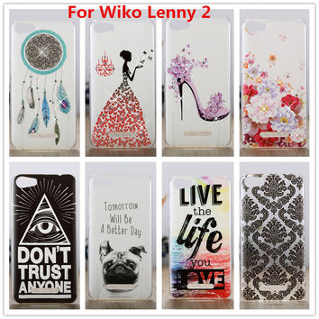 For Wiko Lenny 2 Case /Luxury Crystal Diamond 3D Bling Hard Plastic Cover Case For Wiko Lenny2 Lenny 2 Lenny II Cell Phone Cases