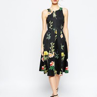 ASOS Floral Occasion Midi Dress