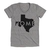 Texas Womens Athletic Grey T Shirt - Graphic Tee - Clothing - Gift
