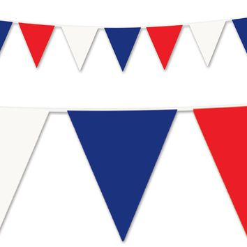 red, white & blue pennant banner - all-weather #bwr00 Case of 12