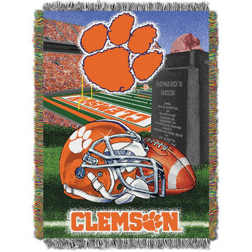 Clemson Tigers NCAA Woven Tapestry Throw (Home Field Advantage) (48x60)