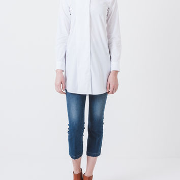 White Button Up Tunic