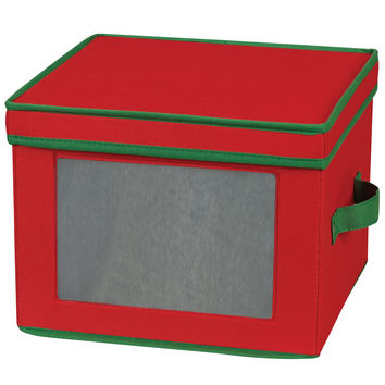Household Essentials Dinner Plate Holiday Storage Chest