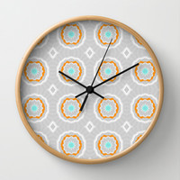 Paper Flowers Wall Clock by Elisabeth Fredriksson | Society6