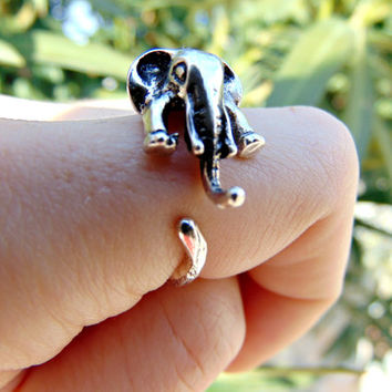 Adjustable Elephant Ring - Statement Ring - Gift for Her