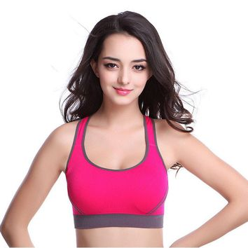 Professional Sexy Women Sports Bra Stretch Athletic brassiere Push Up Bras Seamless Padded Running With Full Cup