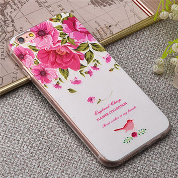 3D Embossing Relief Patterns Case For iPhone 6 6S plus