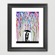 Two Step Framed Art Print by Marc Allante