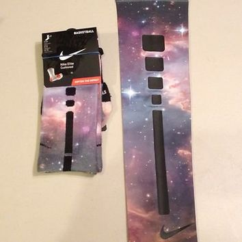 Galaxy Custom Elite Socks AND Custom Nike Elite Basketball Arm Sleeve RARE