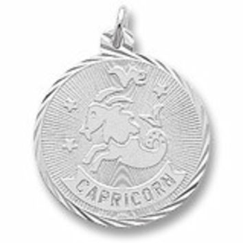 Capricorn Charm In Sterling Silver