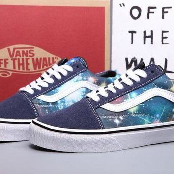 DCK7YE VANS Canvas Old Skool Galaxy Print Flats Sneakers Sport Shoes
