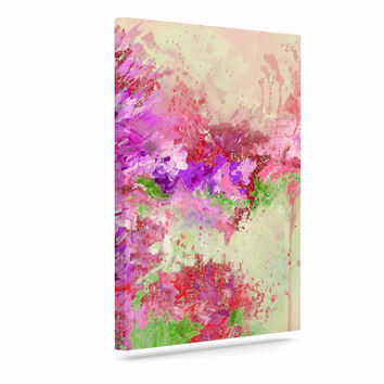 "Ebi Emporium ""When Land Met Sky 3"" Pink Green Canvas Art"