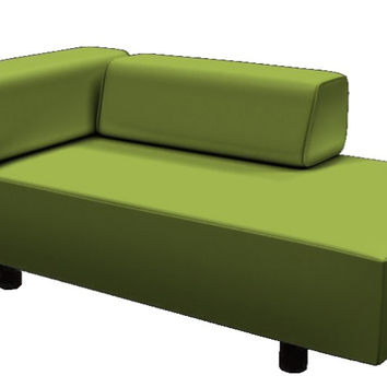 Color Customizable Leather Chaise Lounge Sofa Calabasas by Lazar Industries