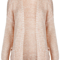 Knitted Mix Yarn Slouchy Cardi - Knitwear - Clothing - Topshop USA