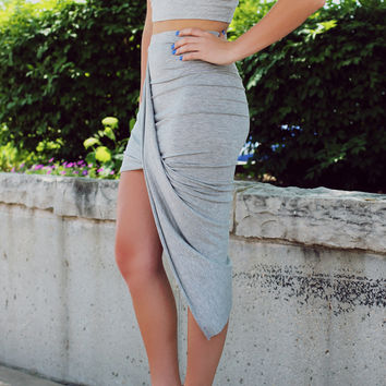 I Dare You Skirt - Grey