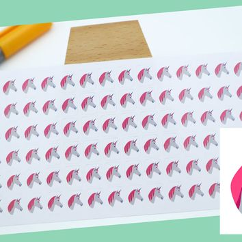 UNICORN || fantasy stickers || small colored icon | for your planner or bullet journal