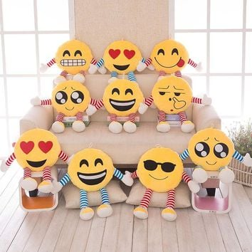 Office Seat Pillows Soft Emoji Smiley Emoticon Pillows Yellow Round Cushion Pillow Stuffed Plush Toy Doll Christmas Present B7