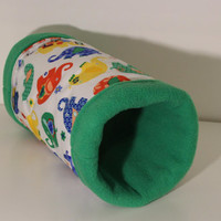 Reinforced Guinea Pig Snuggle Tube, Hedgehog Tunnel, Ferret Cage Accessory - Primary Elephants