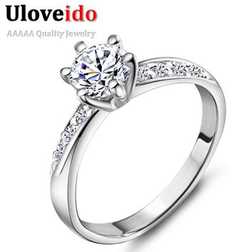 40% off Wedding Crown Crystal Rings for Unique Exclusive Women Charms Zircon Ring Jewelry Engagement Ring Joyas Vintage J048