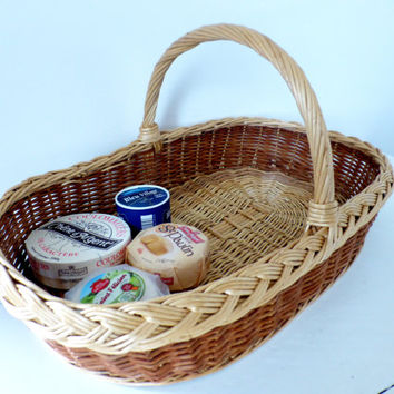 Vintage French Fromage Cheese Basket