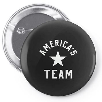 americas team Pin-back button