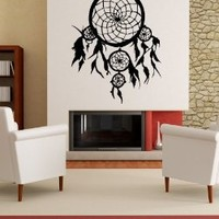"Stickerbrand© American Indian Vinyl Wall Art Dream Catcher Wall Decal Sticker - Multiple Colors Available, 36"" x 28"". Easy to Apply & Removable. Includes FREE Application Squeegee"