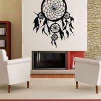 "Stickerbrand© American Indian Vinyl Wall Art Dream Catcher Wall Decal Sticker - Multiple Colors Available, 36"" x 28"". Easy to Apply & Removable."