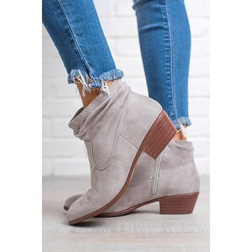 Walking On A Cloud Ankle Booties (Light Grey)