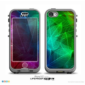 The Glowing Leaf Structure Skin for the iPhone 5c nüüd LifeProof Case