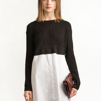 Sweater Shirt Dress