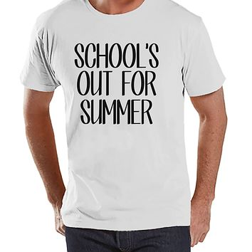 Teacher Shirts - School's Out For Summer - Teacher Gift - Teacher Appreciation Gift - End of School Year Shirt - Men's White T-shirt
