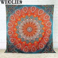 Wall Hanging Beach Towel Indian Tapestry Home Decorative Tapestries Boho Yoga Mat Bedspread Table Cloth 150X150cm