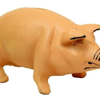 Cast Iron Pig Bank Iron Figurine