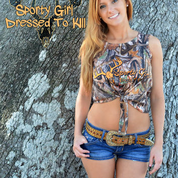 Sporty Girl Apparel camo crop top