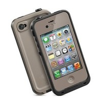 Generic Water Proof Carrying Case for iphone 4 4S Case Cover (light gray)