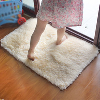 shaggy Modern Bathroom bath mat anti-slip 40*60cm/15.74*23.62in