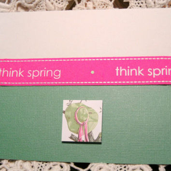 Note Card Greeting Think Spring Just Because Friend