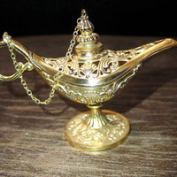 Genie lamp,aladdin lamp,incense burner