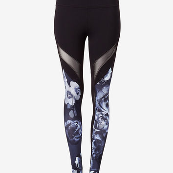 EXP core print mesh panel legging
