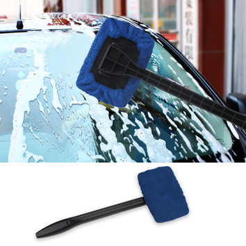 Auto Window Cleaner Windshield Wonder Microfiber Car Wash Brush Dust Long Handle Car Cleaning Tool Car Care Glass Towel
