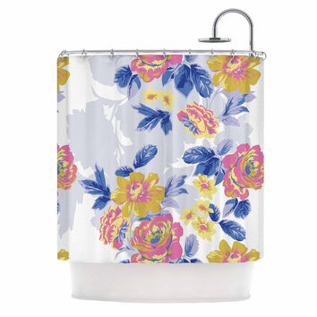 "Gukuuki ""Royal Garden"" Multicolor Yellow Shower Curtain"